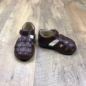 Stride Rite Harper Brown Baby Boy Sandals